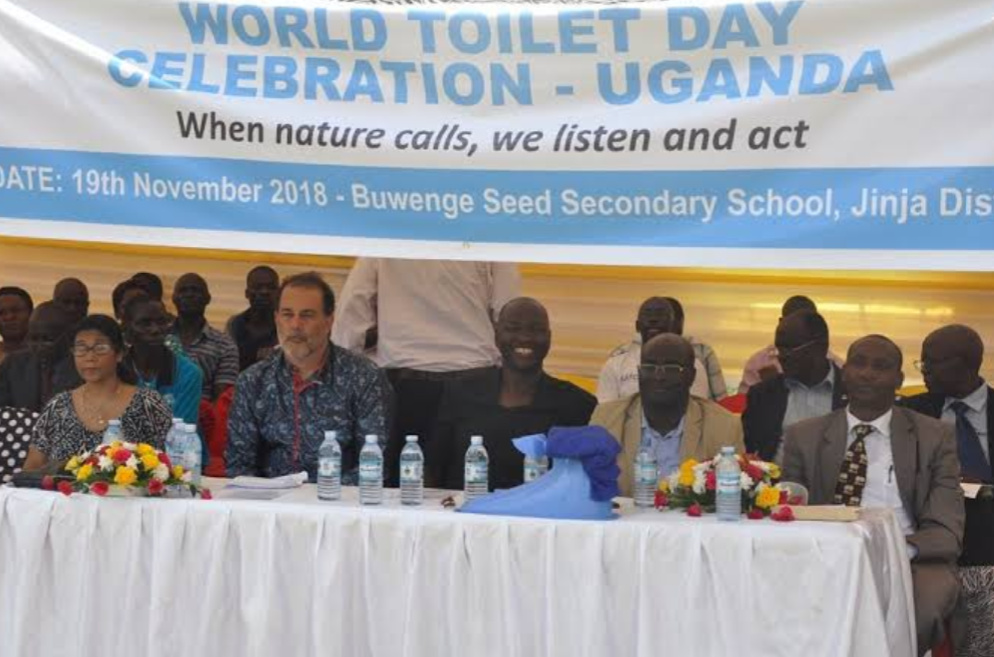 Different Officials at the 2018 World Toilet Day celebration in Uganda (PHOTO/Courtesy).