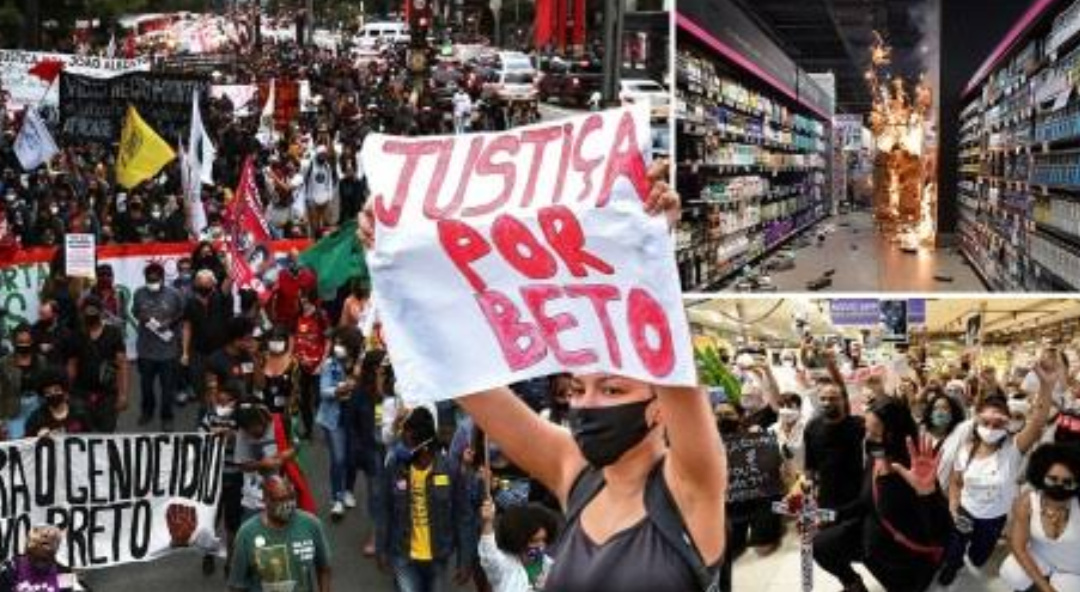 """More protests in Brazil after black man killed by supermarket security guards"""""""