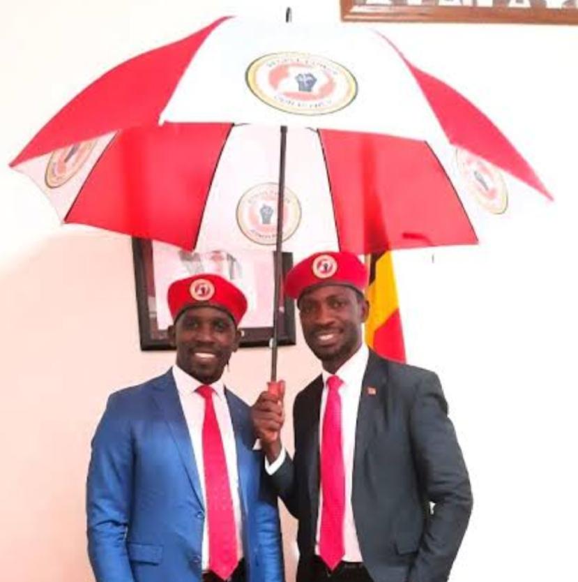 NUP President and Spokesperson Robert Kyagulanyi - Bobi Wine (R) and Joel Ssenyonyi (PHOTO/Courtesy).