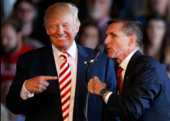 US President Donald Trump and his former national security adviser Michael Flynn (PHOTO/Courtesy).