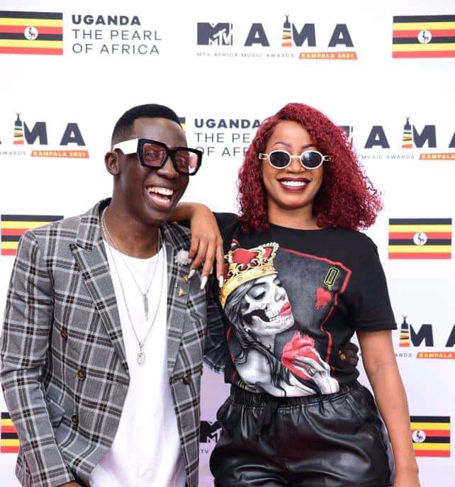 Media personality Douglas Lwanga and singer Sheebah Karungi