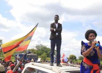 Bobi Wine and his wife Barbie Kyagulanyi campaigning in Kassanda (PHOTO/Courtesy).
