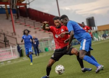 Action between Vipers SC and Al Hilal at the St. Mary's Stadium in Kitende on Saturday, November 28. (PHOTO/Courtesy)