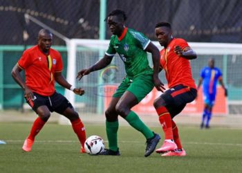 Uganda Cranes plaing against South Sudan (PHOTO/Courtesy).