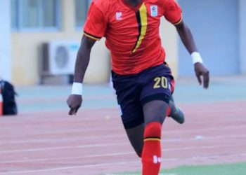 Okello came off the bench in the win over South Sudan on Thursday. (PHOTO/Courtesy)
