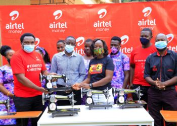 Airtel Uganda staff donated sewing machines to Kasangati Town Council Persons with Disabilities as part of their 12 Days of Xmas CSR campaign (PHOTO/Courtesy).
