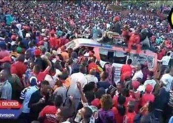 Bobi Wine pulled out massive crowds in Mukono, Nakifuma and Lugazi (PHOTO/Ghetto TV).