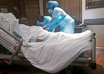 Doctors in Aga Khan Hospital in Kenya examining Lord Mayor Erias Lukwago (PHOTO/Courtesy).