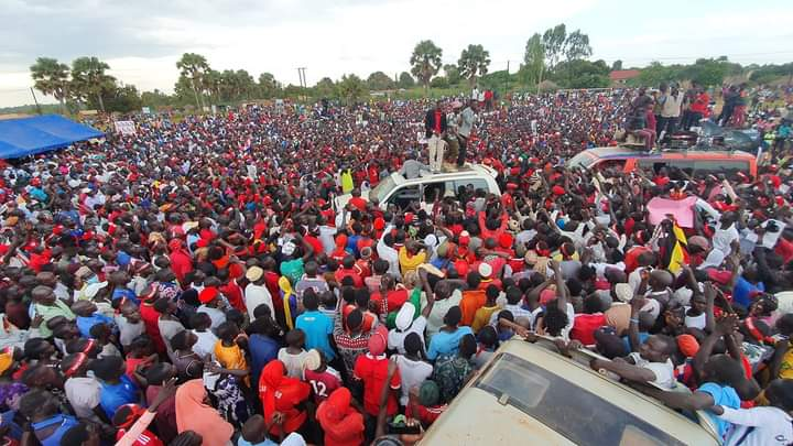 Bobi Wine claimed that the gate way to Koboko was broken and wide open after he received a massive welcome (PHOTO/Courtesy)