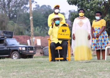 NRM presidential candidate Mzee Tibuhaburwa Museveni in Fort Portal on Wednesday (PHOTO/Courtesy).