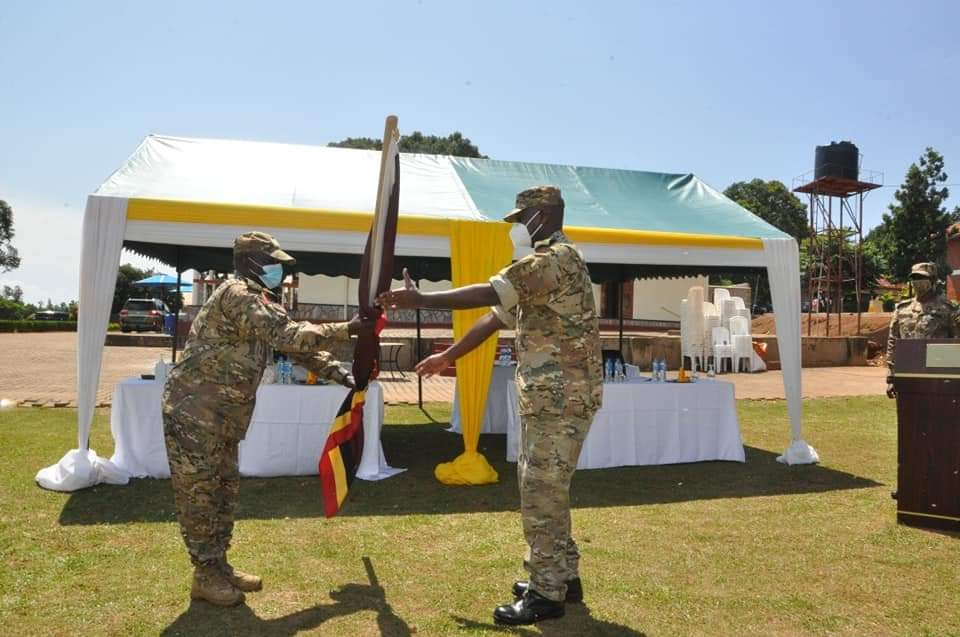 Lt Gen Muhoozi Kainerugaba (R) has been ushered in as he took over his new role of SFC boss (PHOTO/Courtesy).