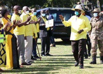 Mzee Tibuhaburwa Museveni meeting Party leaders in Greater Masaka (PHOTO/Courtesy).