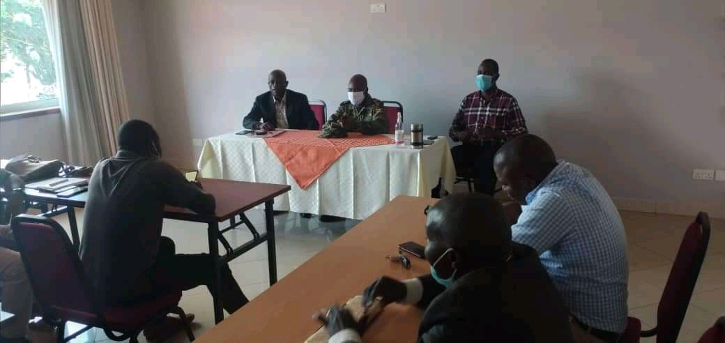 Leadership of Association of Fishers and Lake users of Uganda and Fish Protection Unit in a meeting at Hotel Jevina on Monday (PHOTO/Courtesy).