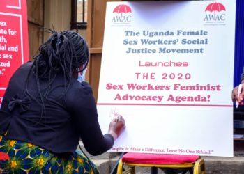 The launch of Female Sex Workers' Feminist Advocacy Agenda (PHOTO/David Mafabi).