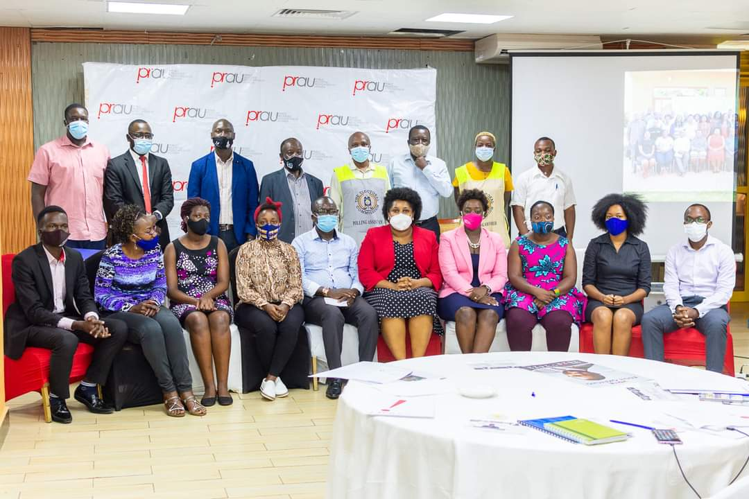 New Governing Council and the outgoing governing Council and the independent Electoral Commission of PRAU having a photo moment (PHOTO/Courtesy).