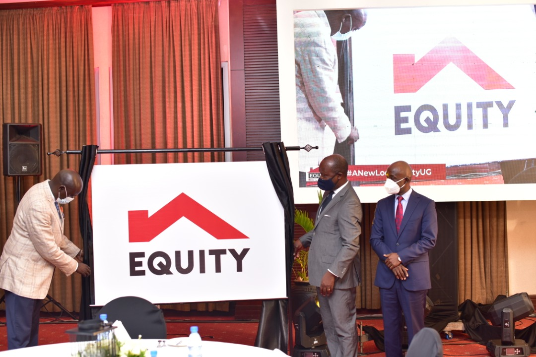 Managing Director Equity Uganda, Samuel Kirubi and other officials during the launch on Thursday (PHOTO/Courtesy).