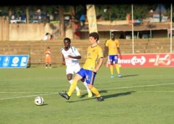 Action between KCCA FC and Mbarara City FC on Friday, December 11. (PHOTO/COURTESY)