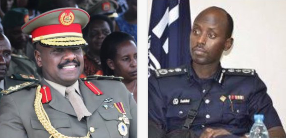 The newly reappointed Special Forces Command, LT. Gen. Muhoozi Kainerugaba and dropped Deputy IGP Maj Gen Sabiiti Muzeyi respectively (PHOTO/File).