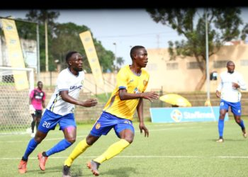 Action between KCCA FC and URA FC on Friday, December 18. (PHOTO/Courtesy)
