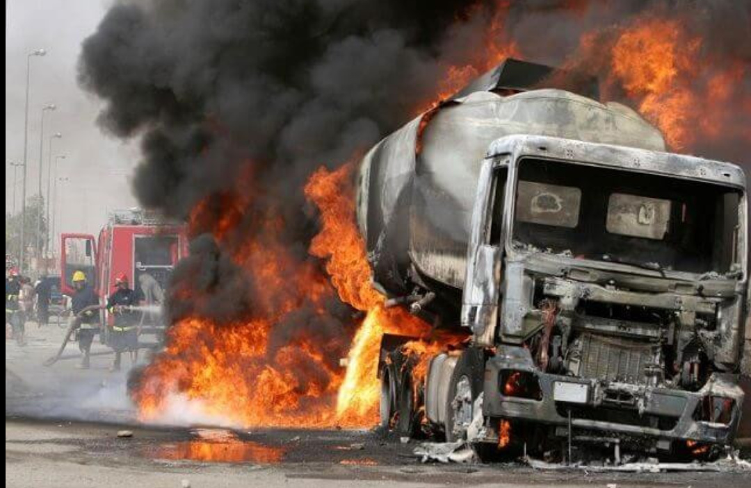 Diesel tank exploded in Lagos (PHOTO/Courtesy).