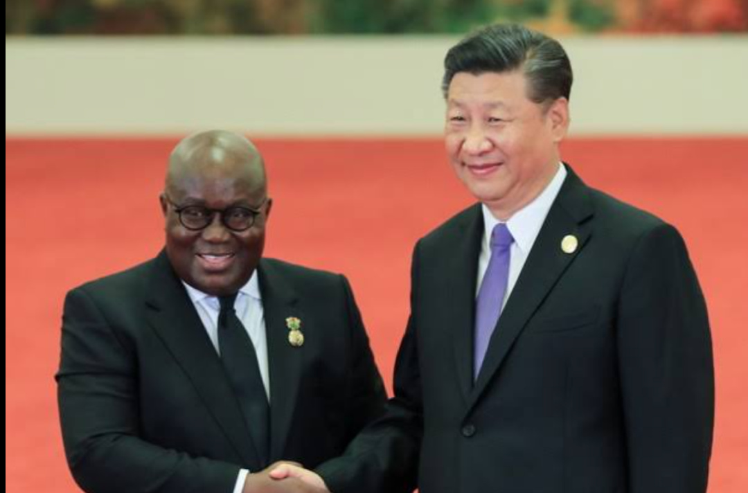 Chinese President Xi Jinping (R) and Ghanian President Nana Addo Dankwa Akufo-Addo (PHOTO/Courtesy).