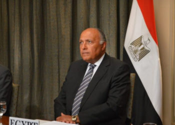 Egyptian Foreign Minister Sameh Shoukry and his Libyan counterpart Mohamed Al-Taher Siala discussed on Monday over the phone the Libyan issue and mutual cooperation (PHOTO/Courtesy).
