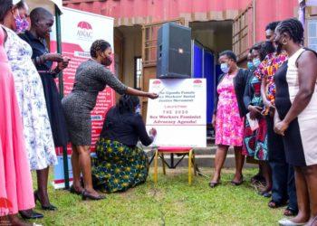 Members of AWAC during the launch of FSWs agenda PHOTO/David Mafabi).