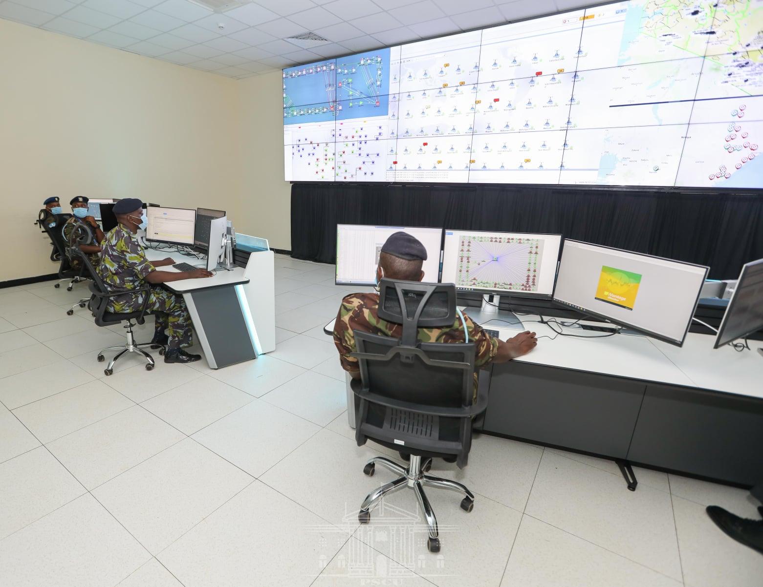 Kenyan President Uhuru Kenyatta launching the National Security Telecommunications Service (PHOTO/Courtesy).