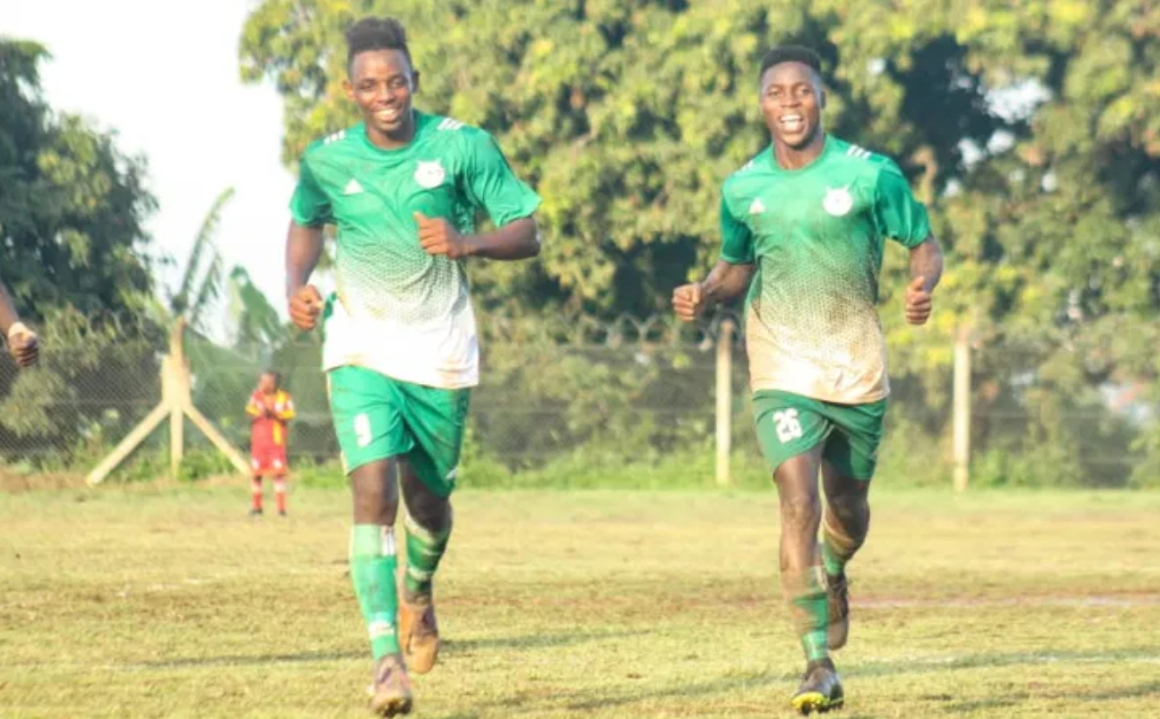 Brian Kayanja (L) and Brian Kalumba (R) were both on the scoresheet for UPDF on Wednesday. (PHOTO/Courtesy)