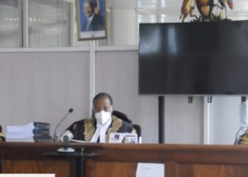 The Deputy Chief Justice Richard Buteera, Justice Kenneth Kakuru and Justice Christopher Izama Madrama in the Wednesday Court Session (PHOTO/Courtesy).