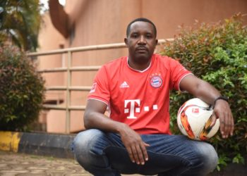 StarTimes Uganda Marketing Director, Isma Lule, in high gear for the Bayern game this weekend (PHOTO/Courtesy).
