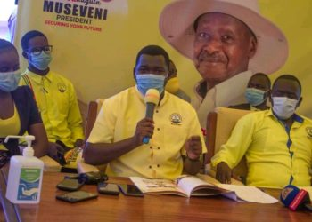 The NRM youths launching village-based mobilization campaign on Tuesday (PHOTO/Courtesy).
