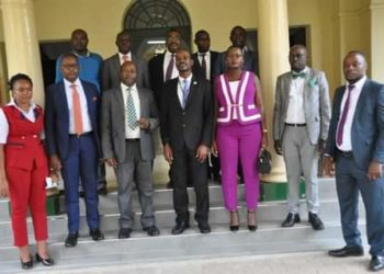 The newly elected executive of the Uganda Court Bailiffs Association (PHOTO/Courtesy).