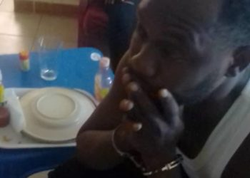 Mr. Adome was seen in the CCTV footage with socialite Don Zella's sister Hamidah Shanita in the apartment next door (PHOTO/Camera grab).