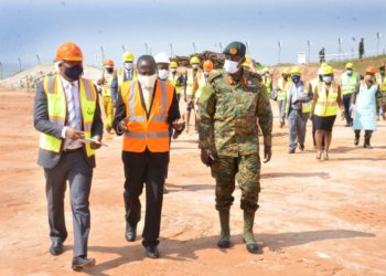 Finance Minister Matia Kasaija commissioned Public Free Zone at Entebbe International Airport (PHOTO/Courtesy)