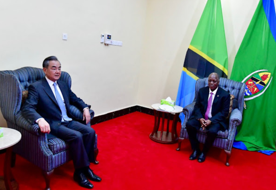 Chinese Foreign Minister Wang Yi and Tanzania President John Magufuli respectively (PHOTO/Courtesy).