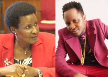 The Incumbent and incoming Mawokota south Amelia Kyambadde and Hillary Kiyaga respectively (PHOTO/File).