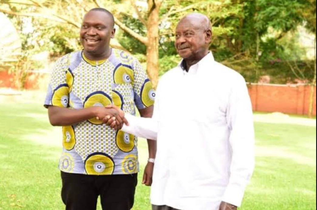 Comedian Salvador and President Museveni respectively (PHOTO/File).