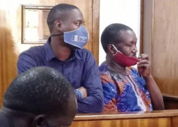 Uncle Money (R) and his co-accused appearing before Court (PHOTO/Courtesy).