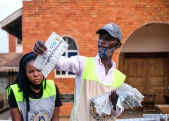 Vote counting in Uganda's elections