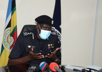 Deputy Inspector General of Police Paul Lokech addressing the press (PHOTO/Courtesy).