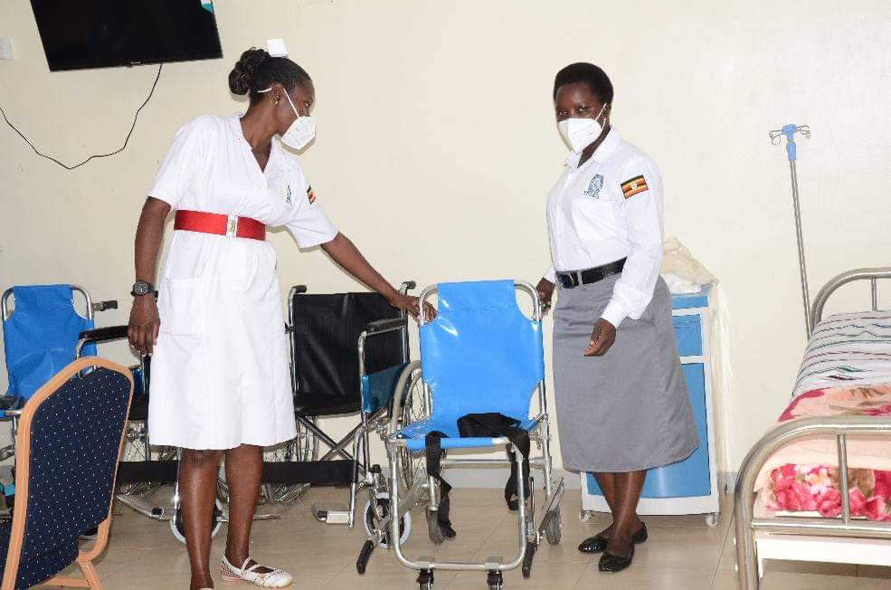 Health workers at the newly opened police covid-19 treatment center (PHOTO/Courtesy).