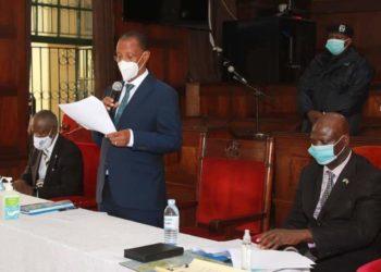 Deputy Chief Justice Richard Buteera Presiding over the swearing-in ceremony of Ms Elizabeth Khaitsa Mabwa Gabona (PHOTO/Courtesy).