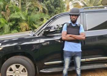 Honourable Robert Kyagulanyi - Bobi Wine with his bullet proof vehicle (PHOTO/Courtesy).