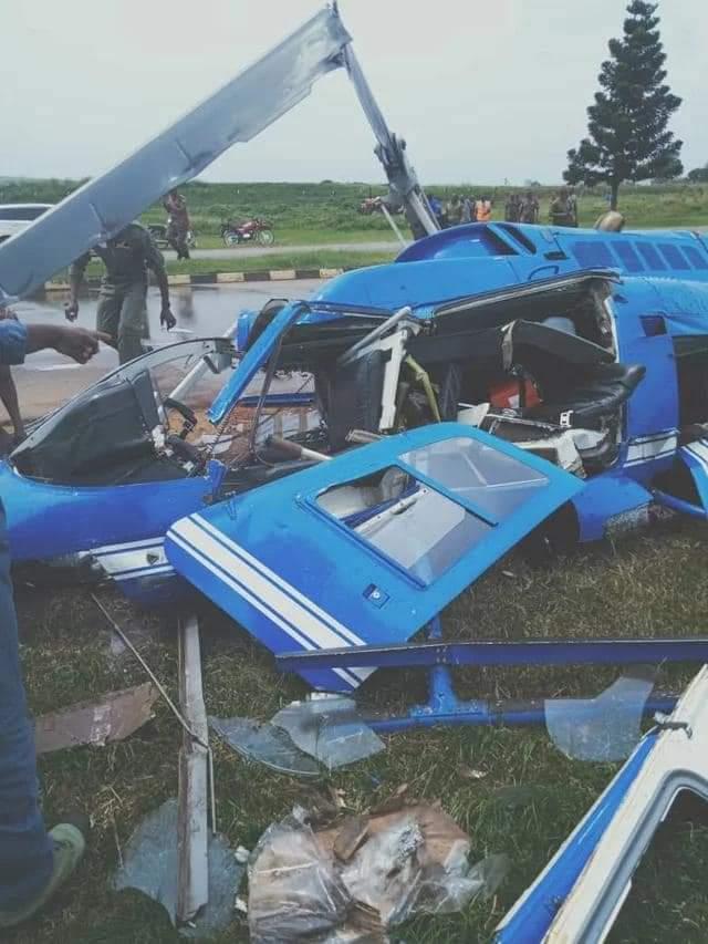 The crashed chopper (PHOTO/Courtesy).
