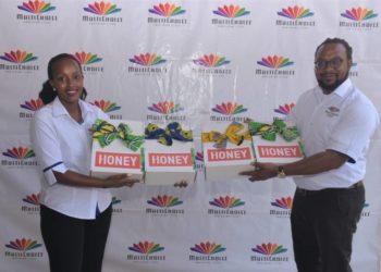 Joan Semanda Kizza, the PR and Communications Manager and Colin Asiimwe, Head of Marketing at  MultiChoice Uganda (PHOTO/PML Daily).