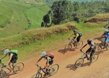 Some of the Cyclists on adventure in Uganda (PHOTO/File).