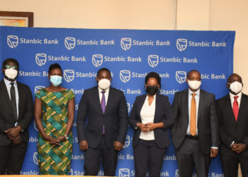 Stanbic Team poses for a picture after the launch (PHOTO/PML Daily).