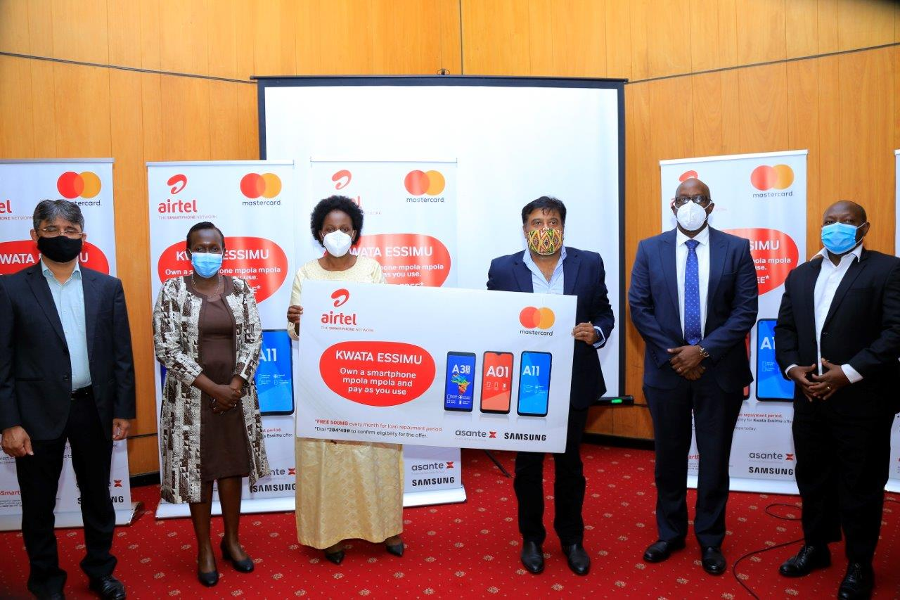 Airtel Uganda today announced the launch of a Pay-on-Demand mobile platform in partnership with Mastercard, Samsung and Asante Financial Services Group (PHOTO/Courtesy).