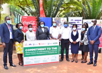 Formalizing the collaboration at a ceremony signing Memoranda of Understanding, the three companies together with KCCA agreed to support various waste management initiatives in communities and help plastic waste collection centers increase their capacity to collect, safely dispose and recycle plastic waste (PHOTO/Courtesy).